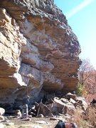 Rock Climbing Photo: Erik after the rest on Man Junk.