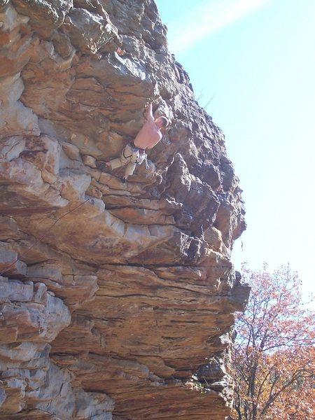 Rock Climbing Photo: Erik finishing Man Junk.