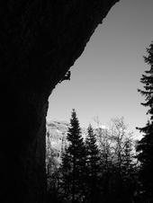 Rock Climbing Photo: Me climbing a climb in the Pipe Dream cave in Mapl...