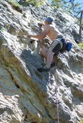 Rock Climbing Photo: Some climbing in Montana.  It was by Bozeman.