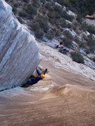 Rock Climbing Photo: Wyatt on the Gobbler.  This was hiw first multi-pi...