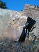 Rock Climbing Photo: An alternate view of the line, with a bit of persp...