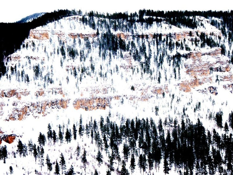 Rock Climbing Photo: Winter comes to Spearfish Canyon early in November...