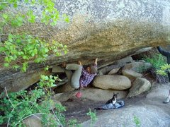 Rock Climbing Photo: Chicken and I at the beer crack