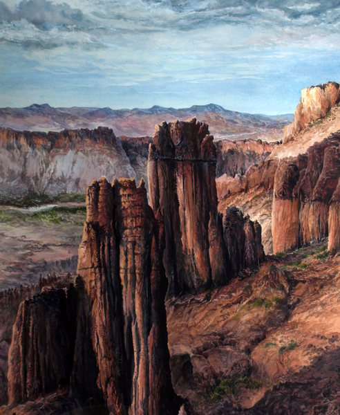 Rock Climbing Photo: A painting done from a photo taken from the Titan....