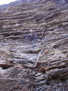 Rock Climbing Photo: Movin' Way up Yonder.  Long and super pumpy route-...