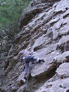 Rock Climbing Photo: Aaron K. gettin' lucky.