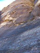 Rock Climbing Photo: The face on Sandstone Sandwich...