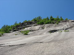 Rock Climbing Photo: Pitch 1 of Wedge from the starting ledge.