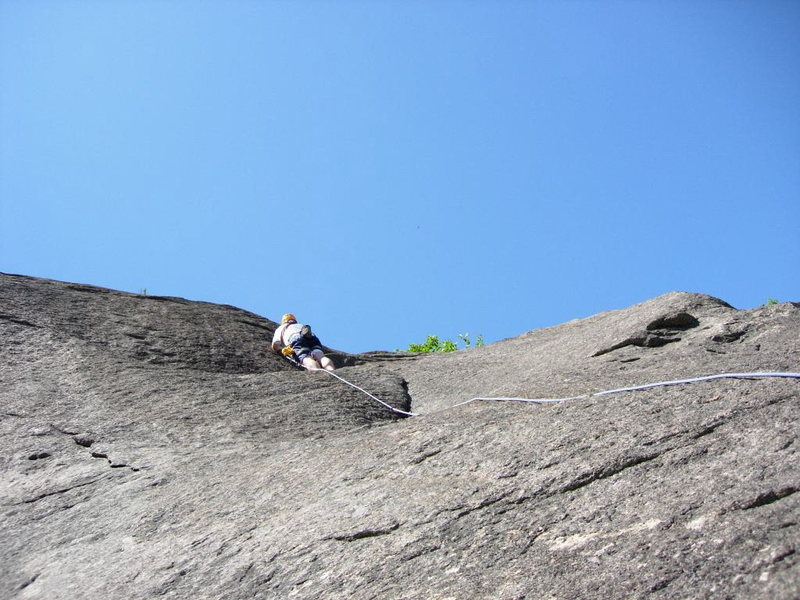 Rock Climbing Photo: Pitch 3 (J.Stone) [ NOTE: Climber is just below th...