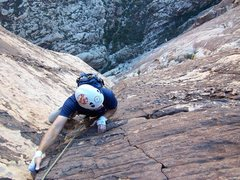 Rock Climbing Photo: High up on Epinephrine, you can see a handful of c...