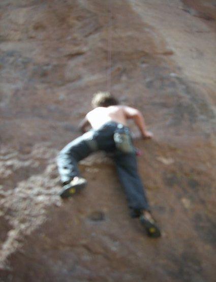 Rock Climbing Photo: On the start