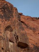 Rock Climbing Photo: Halfway through the crux (nice send Pete).