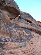 Rock Climbing Photo: Morgan finishing a toprope burn on Rust Bucket (5....
