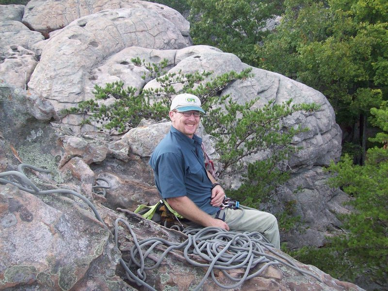Rock Climbing Photo: On belay at the top.