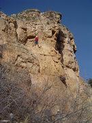 Rock Climbing Photo: Nearing anchors.