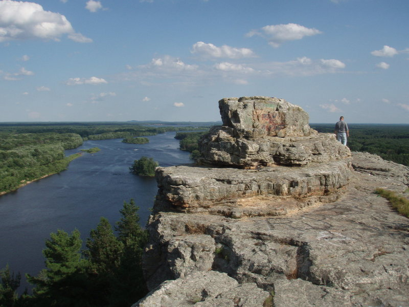 Rock Climbing Photo: great view over the dam on Petenwell