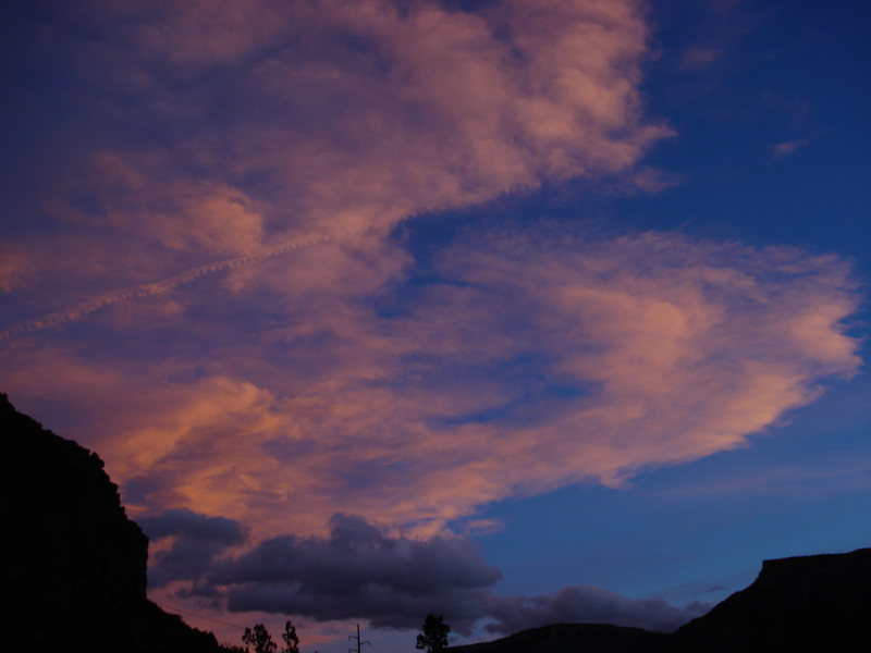 Rock Climbing Photo: sunset over the right fork