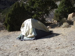 Rock Climbing Photo: the winds broke 2 of our tent poles