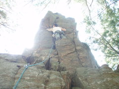 Rock Climbing Photo: At the north end of the y-crack formation.  take t...