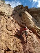 Rock Climbing Photo: ALY in training.