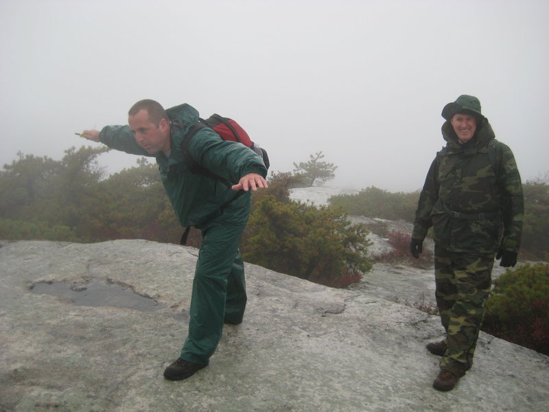 Rock Climbing Photo: The weather was miserable & the wind kicked in, Jo...