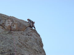 Rock Climbing Photo: Susan on the Oh My! Arete.
