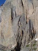 Rock Climbing Photo: As seen from high on Directissima. The route climb...