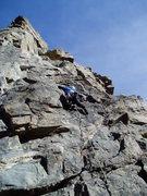 Rock Climbing Photo: Kenny at around the third bolt.