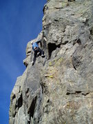 Rock Climbing Photo: Kenny moving right to the groove. This feels like ...
