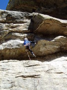 Rock Climbing Photo: Until you've seen it done, this layback seems pret...
