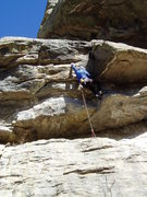 Rock Climbing Photo: There are perfect jams in the horizontal crack tha...