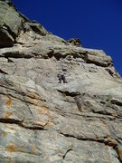 Rock Climbing Photo: Luke on the slab. It feels like cheating climbing ...