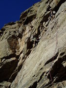 Rock Climbing Photo: Luke on the overhang/corner with another climber a...