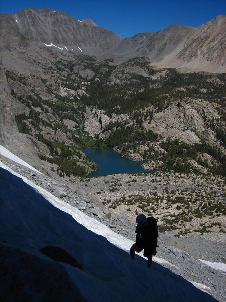 Rock Climbing Photo: Snow Field on the approach to the base of Venusian...