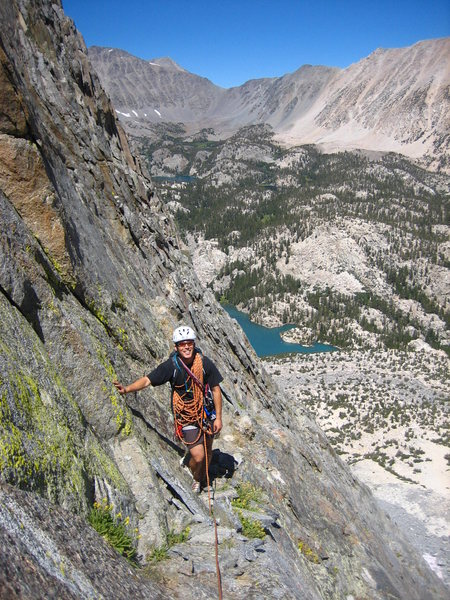 Rock Climbing Photo: Jason Shibata on the easy 5th class simul to the b...