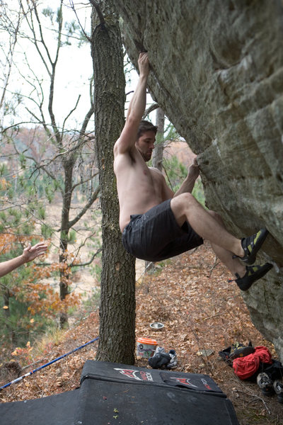 Rock Climbing Photo: From here to a fun top out.