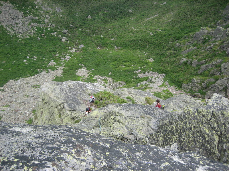The enormous pitch 5 belay ledge