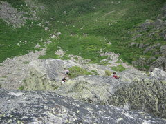 Rock Climbing Photo: The enormous pitch 5 belay ledge