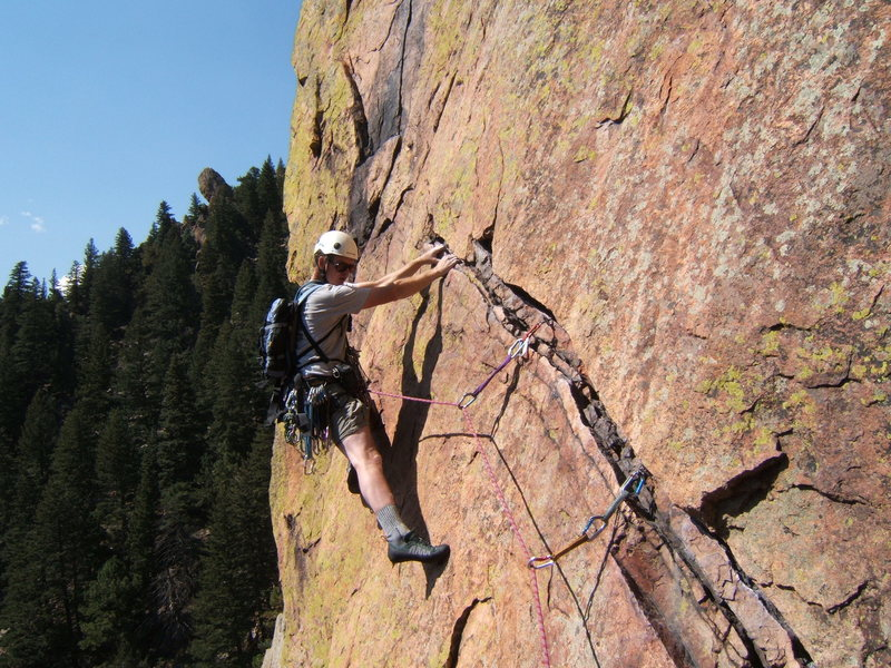 Rock Climbing Photo: 4th pitch Rewritten