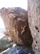 Rock Climbing Photo: Don't blow this move!  The final tricky move on Se...