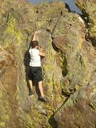 Rock Climbing Photo: The crux area