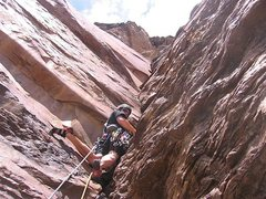 Rock Climbing Photo: Jay sewing up another FA.