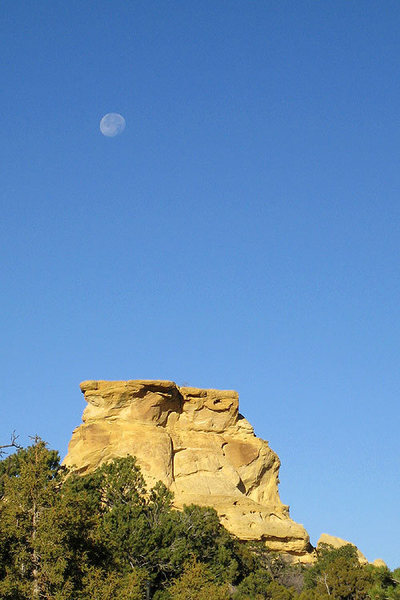 Rock Climbing Photo: Allison's Tower as viewed from the campsite.  This...