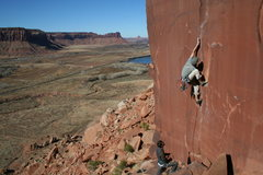 Rock Climbing Photo: G. Neely on the Unnamed 5.9
