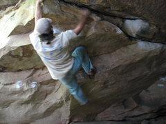 Rock Climbing Photo: End of Cave Traverse. Good climb.