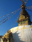 Rock Climbing Photo: Swayambhunath temple above Kathmandu.