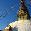 Swayambhunath temple above Kathmandu.