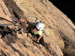 Rock Climbing Photo: Great climbing on the fifth pitch where the rock b...