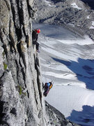 Rock Climbing Photo: North-East Ridge of Bugaboo Spire.